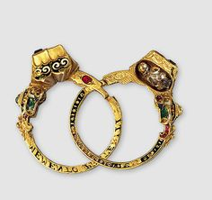 Gimmal gold ring, Germany, Diamonds , rubies, enamel's. 16th century