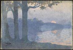 """""""Le soleil embrumé, Vichy"""" d'Alphonse Osbert (1857-1939). Paris, musée d'Orsay - Photo (C) RMN-Grand Palais (musée d'Orsay) / Adrien Didierjean"""