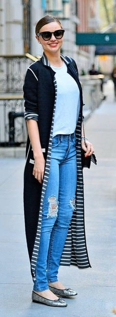 Looking for another way to wear a dramatic cardigan during the day? Check out this look! The possibilities are endless! How would you wear this sweater style?