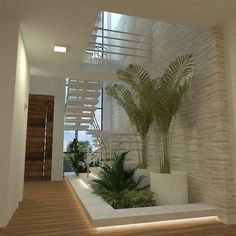 inspiration unique ideas for indoor garden under stairs 10 House, Container House Design, Inside Garden, Modern House Design, House Exterior, Interior Garden, Stairs Design, Stairs, Patio Interior