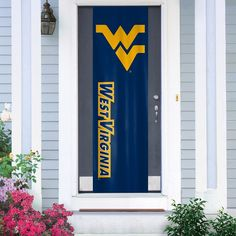 West Virginia Mountaineers Door Banner, Multicolor