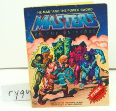 MOTU, He-Man and the Power Sword, Mini Comic Book, Masters of the Universe #Mattel