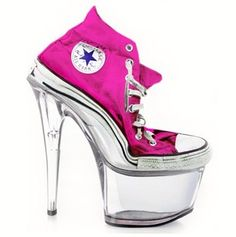 Converse stripper heels for you lazy broads