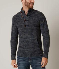 700432f9c5aa69 J.B. Holt Manhatten Henley Sweater - Men's Sweaters in Lake Blue Mel |  Buckle