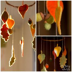 Autumn Leaves Mobile. Nursery Mobile. New Baby Gift. Seasonal Table. Eco Friendly. Ready to Ship by MyFairyWorlds on Etsy