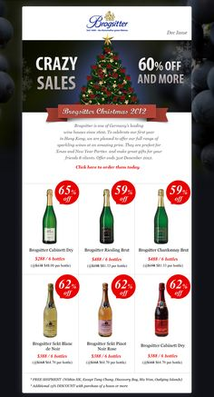 Christmas promotion design for Brogistter  - Germany wine house
