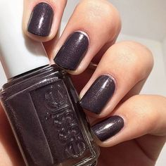 looks gorgeous in 'frock 'n roll' - a deep espresso with a hint of shine from the essie fall 2015 collection. Nails & Co, Love Nails, How To Do Nails, Hair And Nails, My Nails, Essie Nail Colors, Pretty Nail Colors, Pretty Nails, Nail Polishes