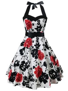 SheIn offers Floral Print Sweetheart Neck Halter Dress & more to fit your fashionable needs. Source by rebekahovercast outfits bajitas Pretty Outfits, Pretty Dresses, Beautiful Dresses, Cute Cheap Dresses, Shopping Outfits, Womens Swing Dress, Cheap Evening Gowns, Vintage Dresses Online, Mode Vintage