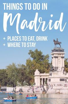 Fun Things To Do in Madrid - leafy parks, tapas, amazing art + practical tips for getting around and places to stay Spain Honeymoon, Honeymoon Places, Honeymoon Ideas, Best Places To Eat, Places To Travel, Travel Destinations, Ibiza, Spain Travel, Travel Europe