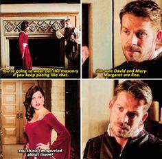 "I love how Robin is like ""Girrrrrll, I know you better than that!"" Regina and Robin Hood - 5 * 4 ""Broken Kingdom"" #OutlawQueen"