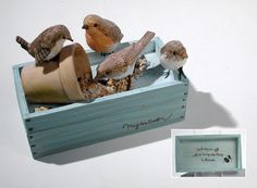 Marjolein Bastin Hallmark bird trinket box.  I have this, my sister gave it to me in 2001 as a matron of honor gift for her wedding.  I also have a picture frame too.