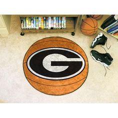 "Georgia Bulldogs NCAA Basketball"" Round Floor Mat (29"") G Logo on Red"""