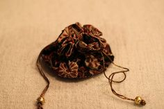 Drawstring Jewelry Pouch with Gold and by HandmadeBySheetaluk