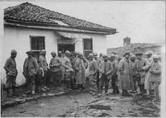 In the streets of Monastir (Bitola) (February 1917). A mass celebrated in a mosque