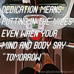 """""""Dedication devotion. Turning all the night time into the day.""""  Some days are tougher than others to log the miles.  Today was one of those days. #runchat"""