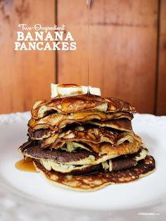 Two Ingredient Banana #Pancakes (we spy a 3rd, but we'll let it go.. :))