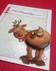 Art Impressions Rubberstamps, Christmas, Jingle Set, Glitter Paper, Action Wobble, JMCreation, Stempelwunderwelt, Copic