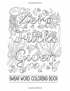 Swear Word Coloring Book Stuff Sheets Swearing Books Printable Adult Pages Free