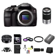 Sony A3000, ILCE-3000, ILCE-3000LB, 20. 1MP Interchangeable Lens Camera Black (Body) with Sony 16-50mm f/3.5-5.6 OSS Alpha E-mount Retractable Zoom Lens SELP1650 and Sony E 55-210mm F4.5-6.3 Lens for Sony NEX Cameras SEL55210 64GB Package 5 - http://slrscameras.everythingreviews.net/11410/sony-a3000-ilce-3000-ilce-3000lb-20-1mp-interchangeable-lens-camera-black-body-with-sony-16-50mm-f3-5-5-6-oss-alpha-e-mount-retractable-zoom-lens-selp1650-and-sony-e-55-210mm-f4-5-6-3-lens-f