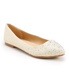 Love this Champagne Lace Bride Flat on #zulily! #zulilyfinds