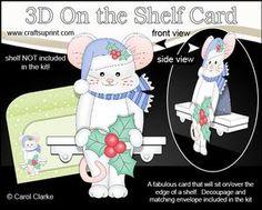 **COMING SOON** Little Christmas Mouse 3D On the Shelf Card Kit - on http://www.craftsuprint.com/carol-clarke/?r=380405