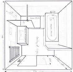 Plus de 1000 id es propos de salle de bain sur pinterest for Plan salle de bain 6m2