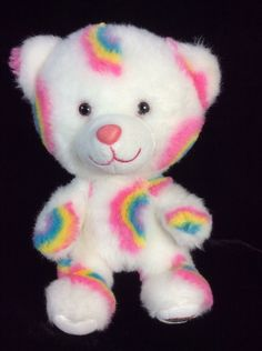 "Smallfrys Rainbow Build A Bear White Plush 8"" Soft Toy Stuffed #AllOccasion"