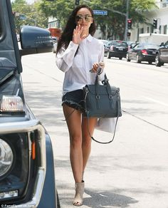 So happy:Earlier that day Cara was seen looking significantly more casual in a pair of cu...