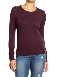 Women's Zip-Shoulder Sweaters Product Image