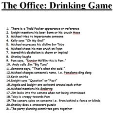 the office drinking game makes me laugh d pinterest drinking