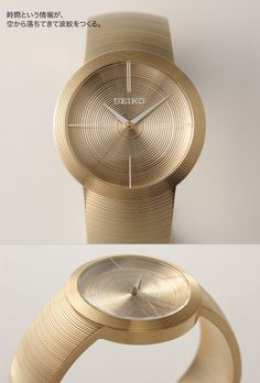 'Dish' Rotating Parabolic Antenna Watch The SEIKO Power Design Project, a horological laboratory for 'concept watches' headed by famed pr. Cool Watches, Watches For Men, Industrial Design Sketch, Face Design, Seiko Watches, Textures Patterns, Retro Futurism, Design Projects, Consumer Electronics