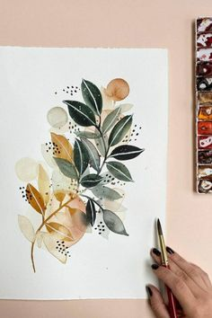 Abstract Watercolor, Watercolor Illustration, Watercolour Painting, Painting & Drawing, Watercolor Artists, Painting Inspiration, Art Inspo, Kunst Inspo, Guache