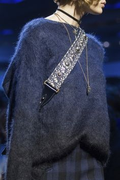 Wear a choker with layer length necklaces. Christian Dior Fall 2017