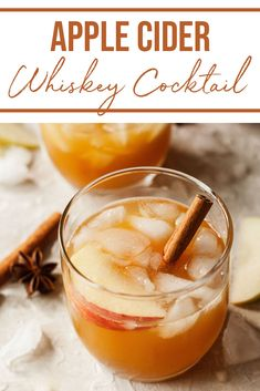 This apple cider cocktail is smooth, sweet, and delicious! It's the best cocktail for serving in fall and offering at your Thanksgiving table. The smooth apple cider pairs perfectly with bourbon whiskey and a dash of ginger juice in this alcoholic drink. Apple Cider Alcohol, Apple Cider Whiskey, Apple Cider Drink, Warm Apple Cider, Spiced Apple Cider, Bourbon Whiskey, Bourbon Drinks, Hot Apple Cider Cocktail, Cider Cocktails