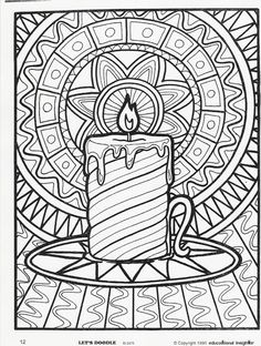 christmas candle adult colouring