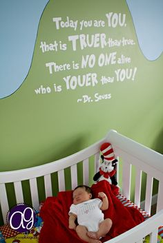 so would do a Dr Seuss nursery and what better decor than his own words!