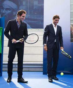 Roger Federer & Rafael Nadal. #tennisinspiration