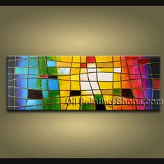 Enchanting Modern Abstract Painting Oil Painting On Canvas Gallery Stretched Abstract. This 1 panel canvas wall art is hand painted by Kerr.Donald, instock - $168. To see more, visit OilPaintingShops.com