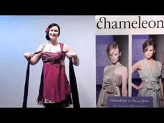 Chameleon/Flipit Dress by Annah Stretton. How to wear... Square Neckline 8 videos on differnt wrap patterns