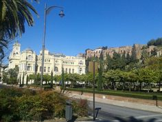 malaga city hall and old castle