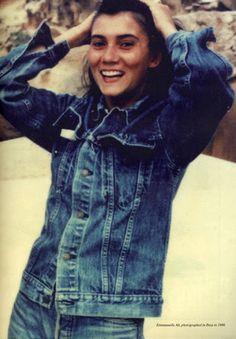 Emmanuelle Alt photographed in Ibiza, 1988