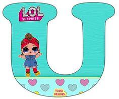 Alfabeto LOL Surprise Letra u- abecedario LOL Suprise muñecas -letters LOL Surprise Alphabet Letters Design, Alphabet Fonts, Cartoon Letters, Doll Party, Baby Alive, Lol Dolls, Letters And Numbers, Lettering Design, Party Themes