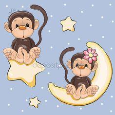 Descargar - Los amantes monos — Ilustración de stock #79846436