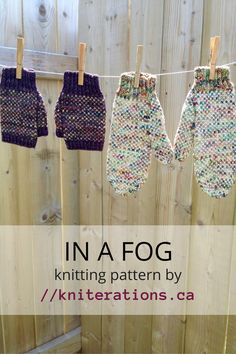 Knitting pattern: In a Fog mittens by Allison O'Mahony?Kniterations for sale on Ravelry