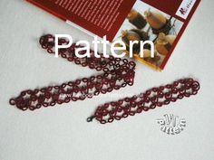 Tatting lace bracelet/choker PDF Tatting pattern Tutorial by TattingPatternDesign on Etsy