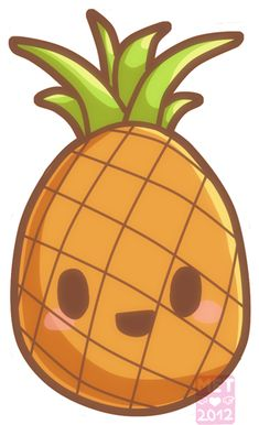 Doodle Kawaii Pineapple by Metterschlingel.deviantart.com on @deviantART