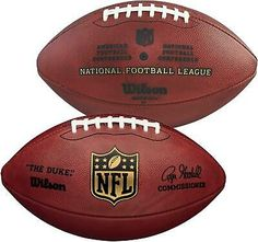 "Wilson ""The Duke"" Official NFL Leather Football - Fanatics | eBay"