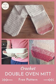 Double Oven Mitt Crochet Pattern The Crochet Double Oven Mitt is a free crochet pattern by Ned & Mimi. The single crochet thermal stitch is perfect for hot-pads! And the two gloves means you use both hands - so clever! Crochet Unique, Easy Crochet, Free Crochet, Moogly Crochet, Crochet Geek, Beginner Crochet, Crochet Granny, Crochet Double, Reverse Single Crochet