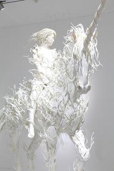 """Hollow: What rushes through every mind,"" 2010 |  Amazing Japanese sculpture artist Odani Motohiko |  Work created with the support of Fondation d'entreprise Hermès Photo: Kioku Keizo, Courtesy Mori Art Museum"