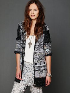 Free People Snowflake Back Cardigan